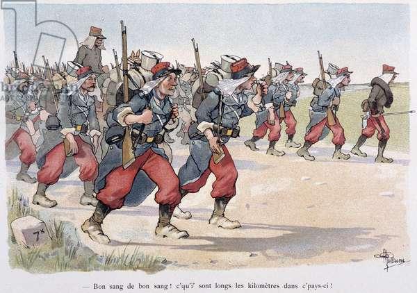 "Regiment en marche - in """" Album militaire"""" by Albert Guillaume (1873-1942), ca. 1900"
