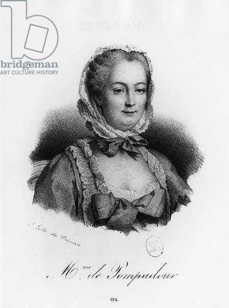 Madame de Pompadour, Jeanne Antoinette Poisson (1721-1764) (Marquise of Pompadour)