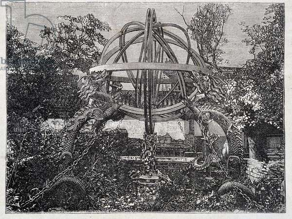 """Bronze instruments of the Pekin Observatory - in """""""" The World Tour"""""""", 1st week 1876"""