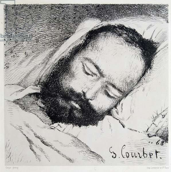 Mortuary portrait of Proudhon, 20/01/1865 - by Gustave Courbet