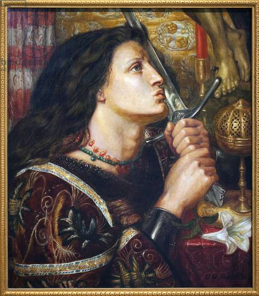 Joan of Arc Kissing the Sword of Deliverance, 1863 (oil on canvas)