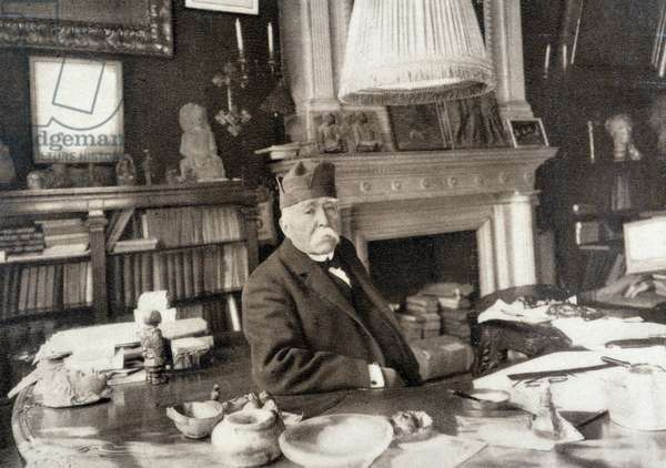 Portrait of Georges Clemenceau (1841 - 1929) in 1925