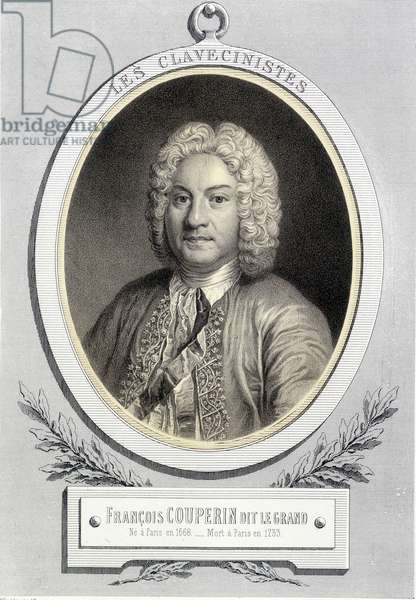 Portrait in medallion of François Couperin dit Le Grand, n.d. 19th s.