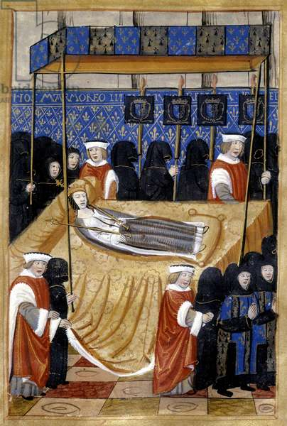 Burial of Anne de Bretagne (1514) - Miniature, 16th century, B.M. de Rennes