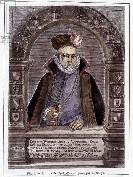 Portrait of Tycho Brahe (1546-1601), astrologer.