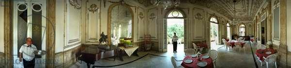Prado No 212, the dining room of the house Jose Miguel Gomez, (1915, architect Hilario del Castillo), Havana. Panoramic 360 degrees by Leonard de Selva, Cuba, 2001.