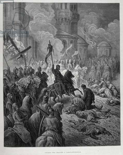 Entry of the Crusaders to Constantinople during the Fourth Crusade by Gustave Doré.