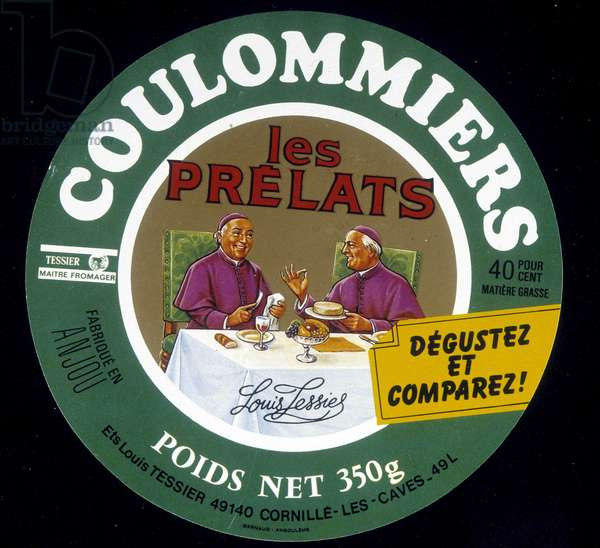 "Coulommiers label """" The prelates"""""" 20th century"
