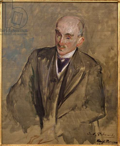 Study for the portrait of Henri Bergson (1859-1941). Painting by Jacques Emile (Jacques-Emile) Blanche (1861-1942), oil on canvas, 1911, 20th century french art. Musee des beaux arts de Rouen.