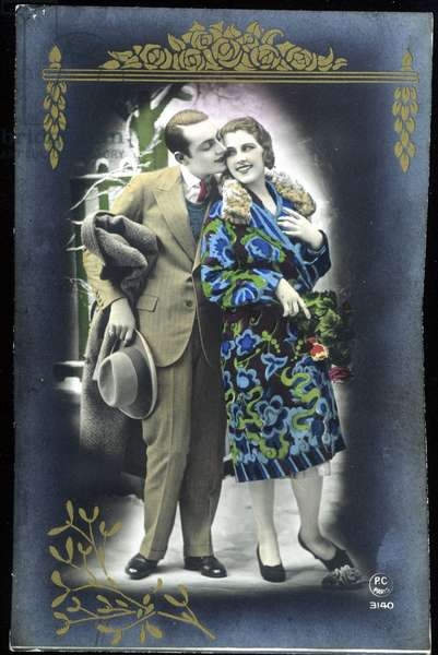 Couple d'amoureux - Postcard, 20th century