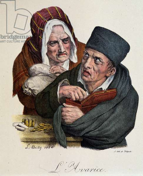 Seven Deadly Sins: Greed by Boilly, 1824.