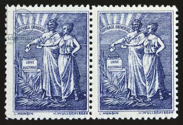 Universal suffrage - french stamp
