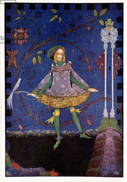 """On the grave of the princess's father then grew a rose-bush - The swineherd """""""" The Princess and the Porcher"""""""" - in """""""" Fairy Tales"""""""" by Hans Christian Andersen, ill. by Harry Clarke"""