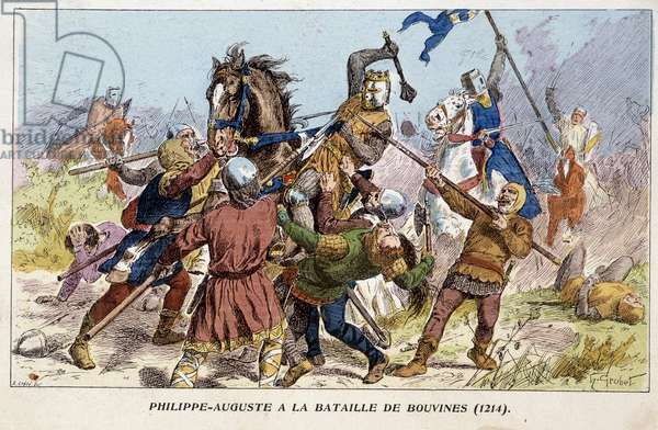 Philippe-Auguste (Philippe Auguste) at the Battle of Bouvines (1214).
