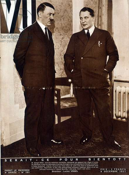 """Adolf Hitler and Hermann Hermann Wilhelm Goring (or Goering, 1893-1946): would it be soon? - in """""""" Vu"""""""" from 09/12/1931"""