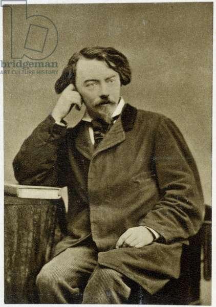 Portrait of Auguste Villiers de L'Isle Adam (Isle-Adam) (1838 - 1889) in 1882