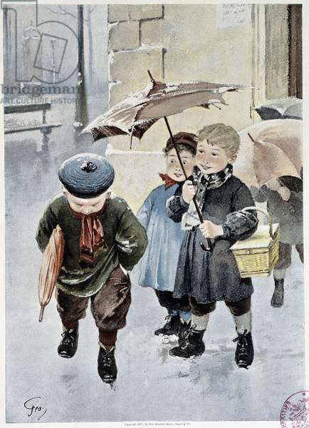 """An independent - watercolour by Geoffroy in """""""" Le Figaro Illustré"""""""""""", May 1901"""