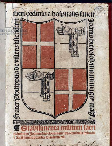 Coat of arms with the cross of Malta National Library of Malta