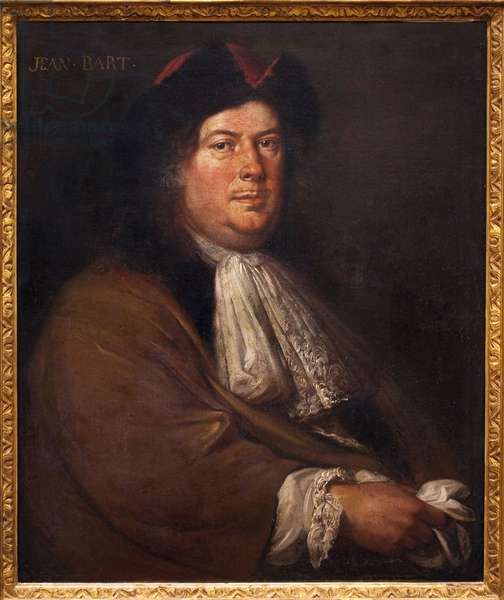 Portrait of Jean Bart (1650-1702). Painting by Mathieu Elias (1658-1741), oil on canvas, early 18th century. French Art, 18th century. Musee National de la Marine, Paris.
