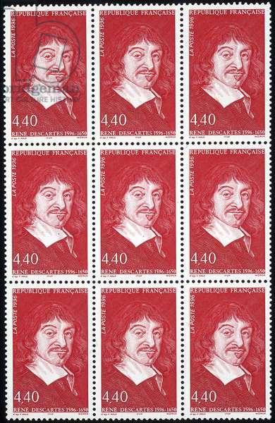 Stamp commemorating René Descartes, 1996 (colour litho)