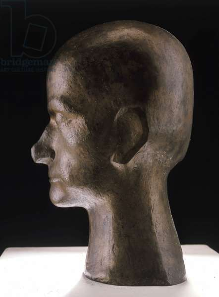 Bust of Baudelaire, bronze, 1911, Raymond Duchamp. (+ 1918)