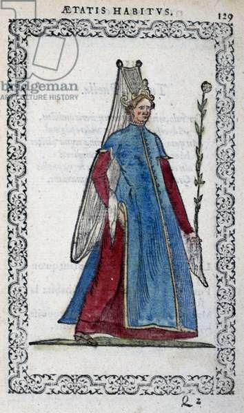 """Demoiselle de Turk - in """""""" Habits et effigies"""""""" by Jean Sulperius, 1572"""