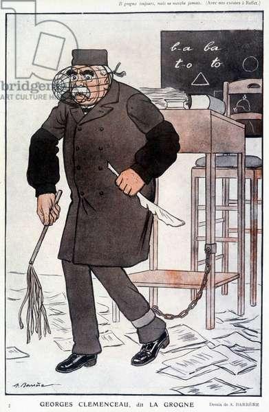 "Clémenceau dit """" La Grogne"""" - by Barrère, in """" Fantasio"""""" of 01/05/1916"