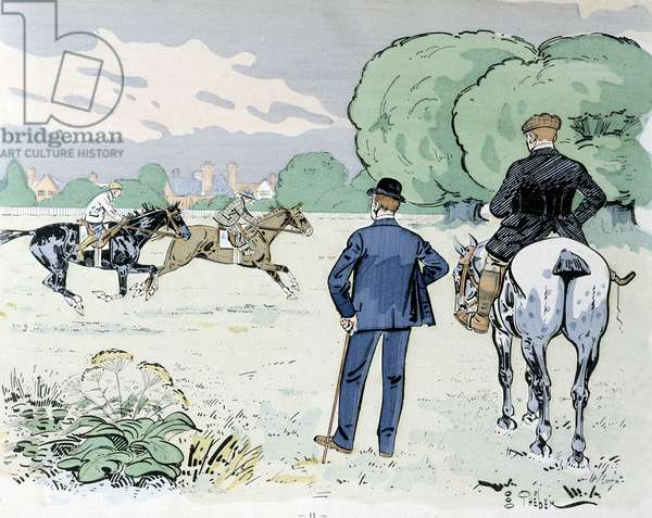 Horse riding - drawing by Thelem