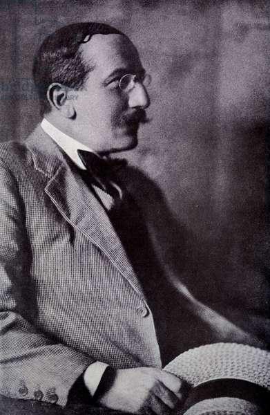 Portrait of Leon bakst (1866-1924) in Programme officiel des Ballets russes: Theatre du Châtelet, May 1917