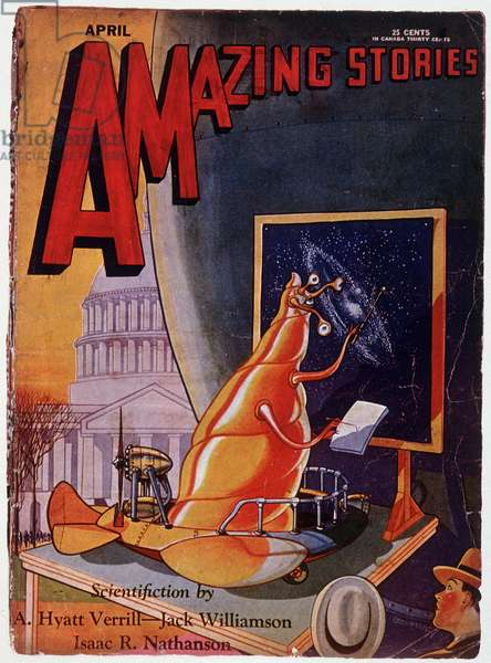 """Cover of science fiction magazine """""""" Amazing Stories"""""""", April 1930"""