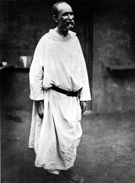 Portrait of Father Charles de Foucauld (1858-1916).
