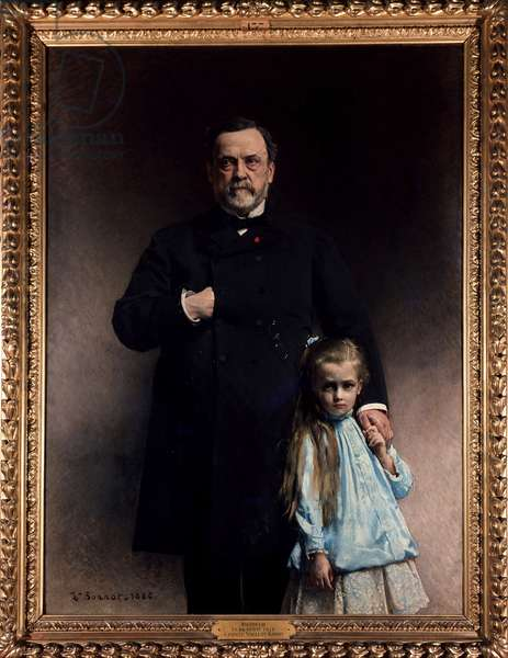 Louis Pasteur and his granddaughter, Camille Vallery Radot - by Bonnat, 1886.