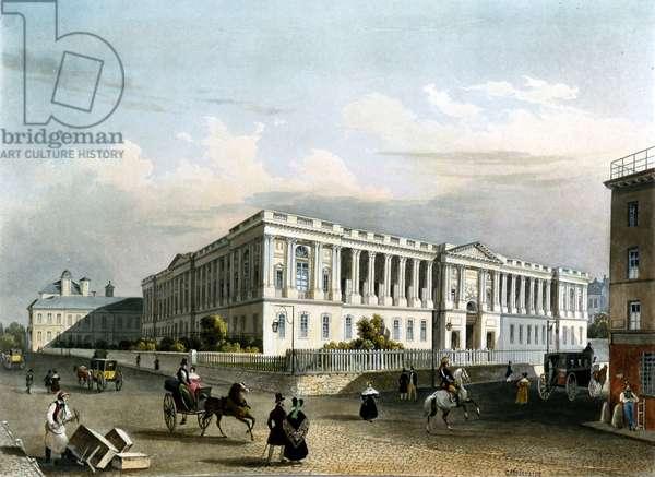 The Louvre around 1840
