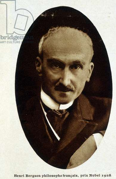 "Portrait of Henri Bergson, Nobel Prize winner 1928 - photography in """" Vu"""" from 21/11/1928."