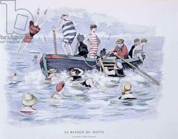 """La Barque du Dante - in """"L'Etoile de mer"""""""" by A. Guillaume, Ed Simonis Empis, Paris 1897"""