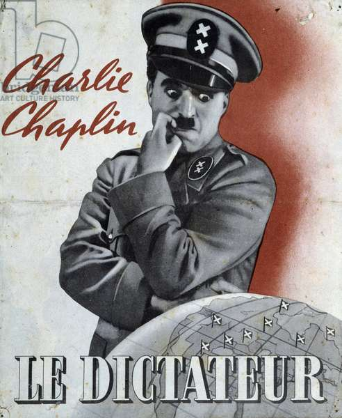 "Advertising for ""The Dictator"" by Charlie Chaplin, n.d. v. 1940."