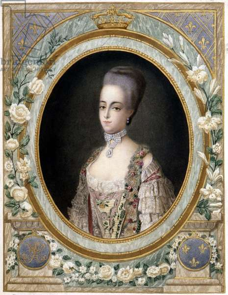 Medallion portrait of Marie Antoinette in dolphine, n.d., 18th century.