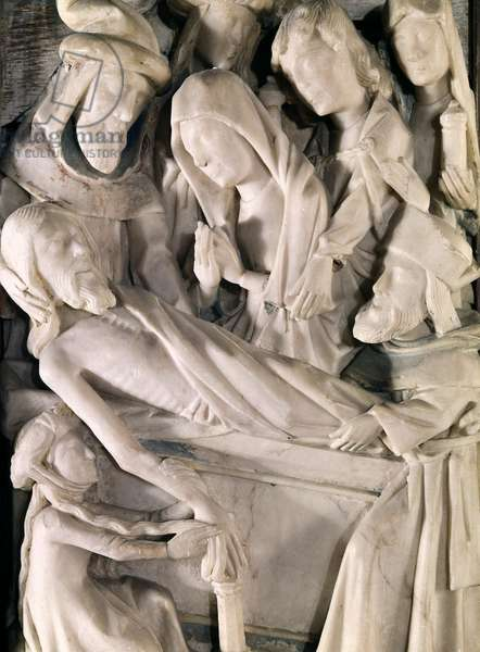 Tomb of Christ, details of the altarpiece of Saint-Riquier, 16th