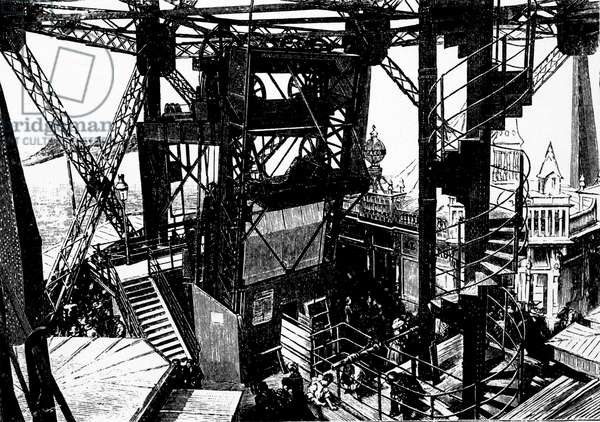 Illustration sur la construction de la Tour Eiffel.¿
