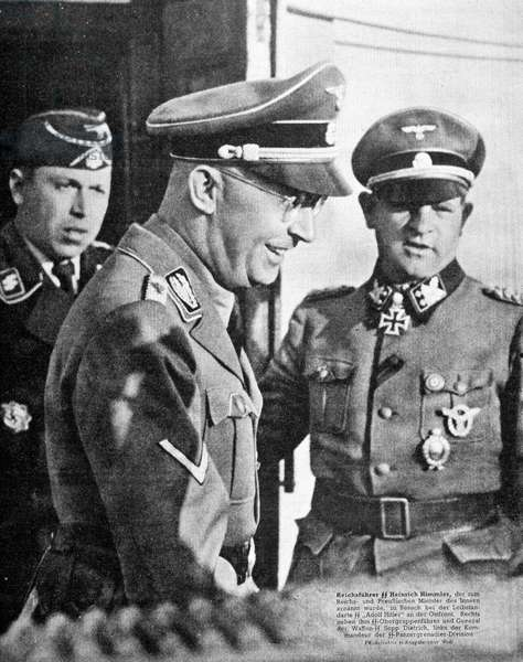 """Himmler on the East Front with General Sepp-Dietrich, """""""" Die Woche"""""""" 1/9/1943."""