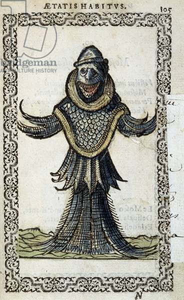 "Le monine marin - in """" Habits et effigies"""" by Jean Sluperius, 1572"