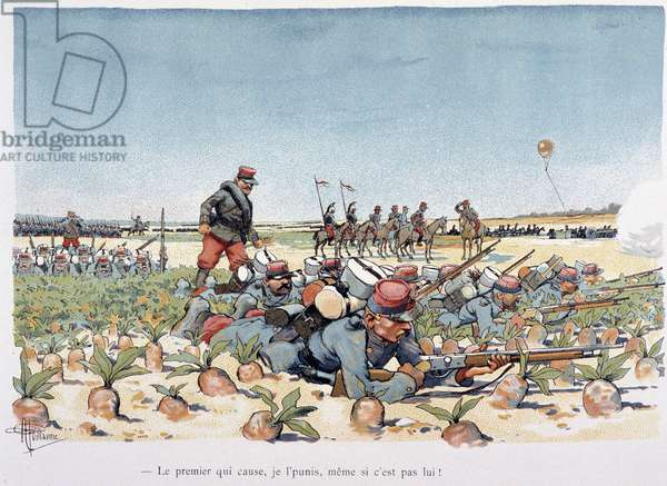 """Under the Fire of the Enemy - in """""""" Military Album"""""""" by Albert Guillaume (1873-1942), circa 1900"""