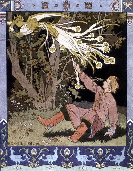 "Tale ""The Fire Bird"""" - Russian illustration, 1899"