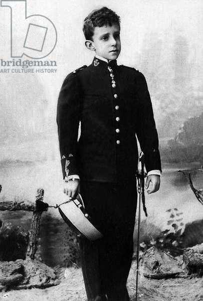 Portrait of Alphonse Leon Ferdinand de Bourbon (1886-1941), known as Alfonso XIII, King of Spain.