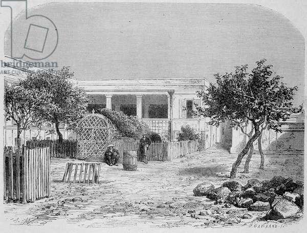 """L'Hopital de Goree (Senegal) - in """""""" Le Tour du Monde"""""""", 1st week 1872"""