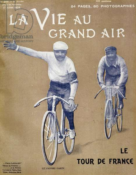 """Garin, the favorite of the Tour de France - in """"La Vie au Grand Air"""""""" from 17/07/1903"""