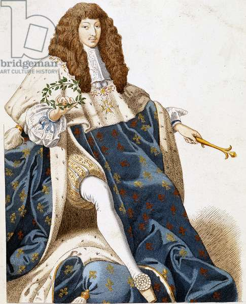 Portrait of Louis XIV, young.