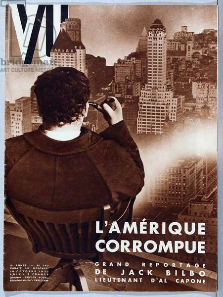 "Corruption in the United States, big report by Jack Bilbo, Lieutenant of Al Capone - in """" Vu"""", 19/10/1932."