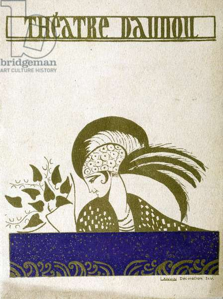 Programme of the theatre Daunou in Paris, 1926. Drawing by Lanvin.