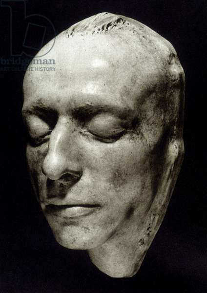 Mortuary mask of Charles Baudelaire